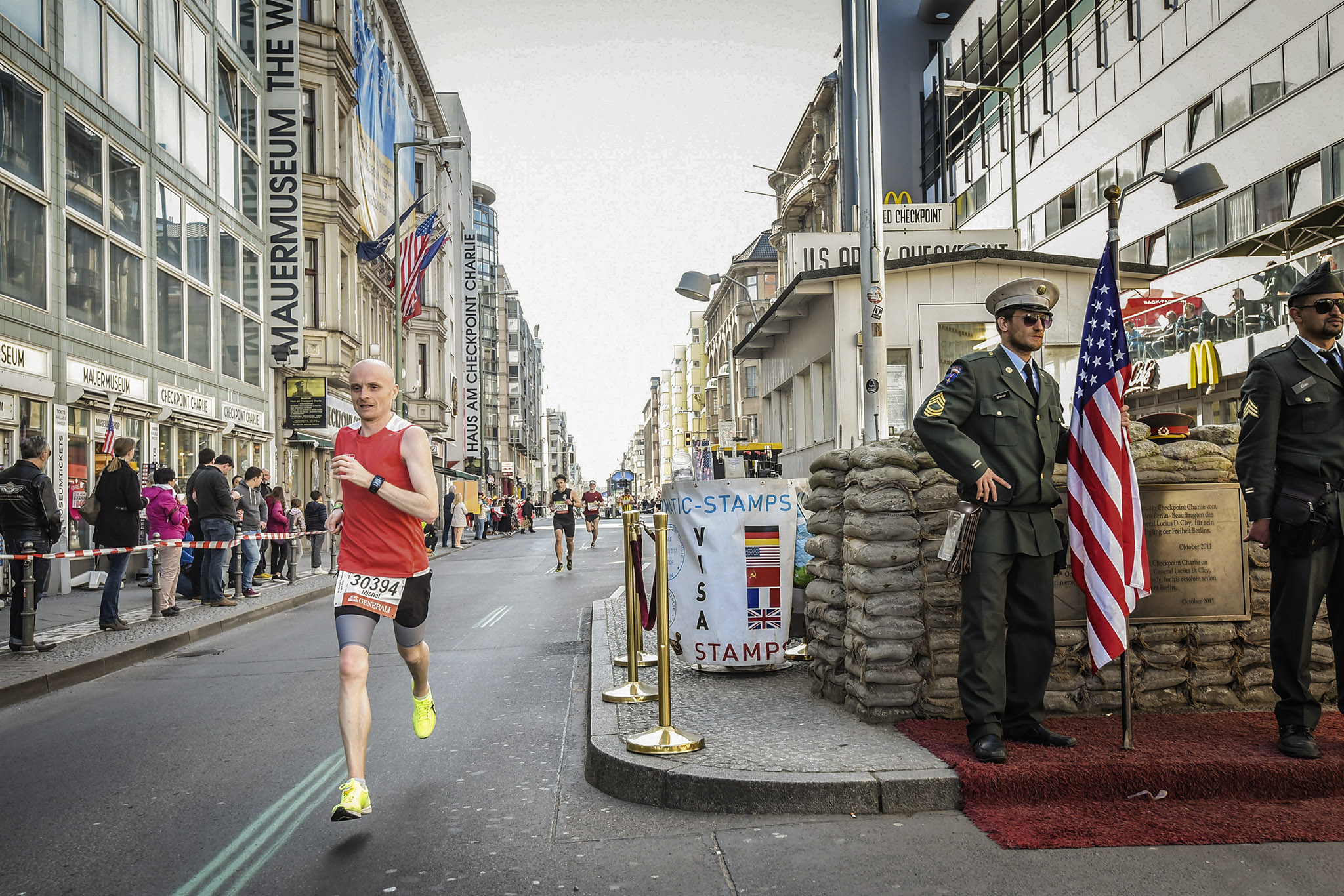 Berlin Checkpoint Charlie only travelers left alive