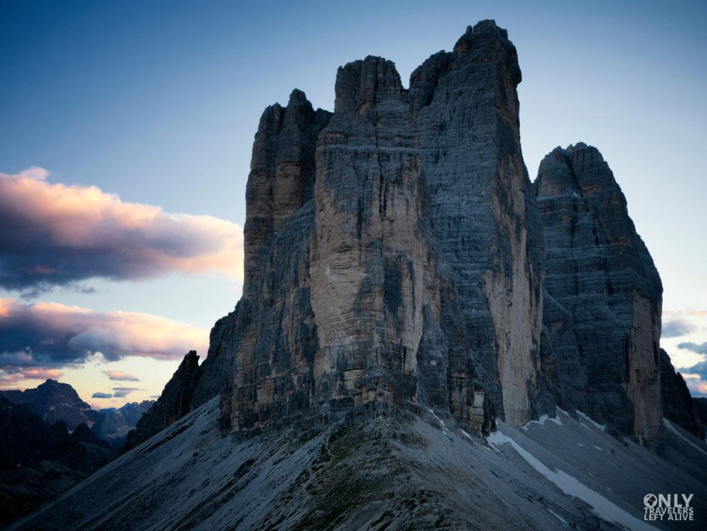 tre cimes dolomity only travelers left alive
